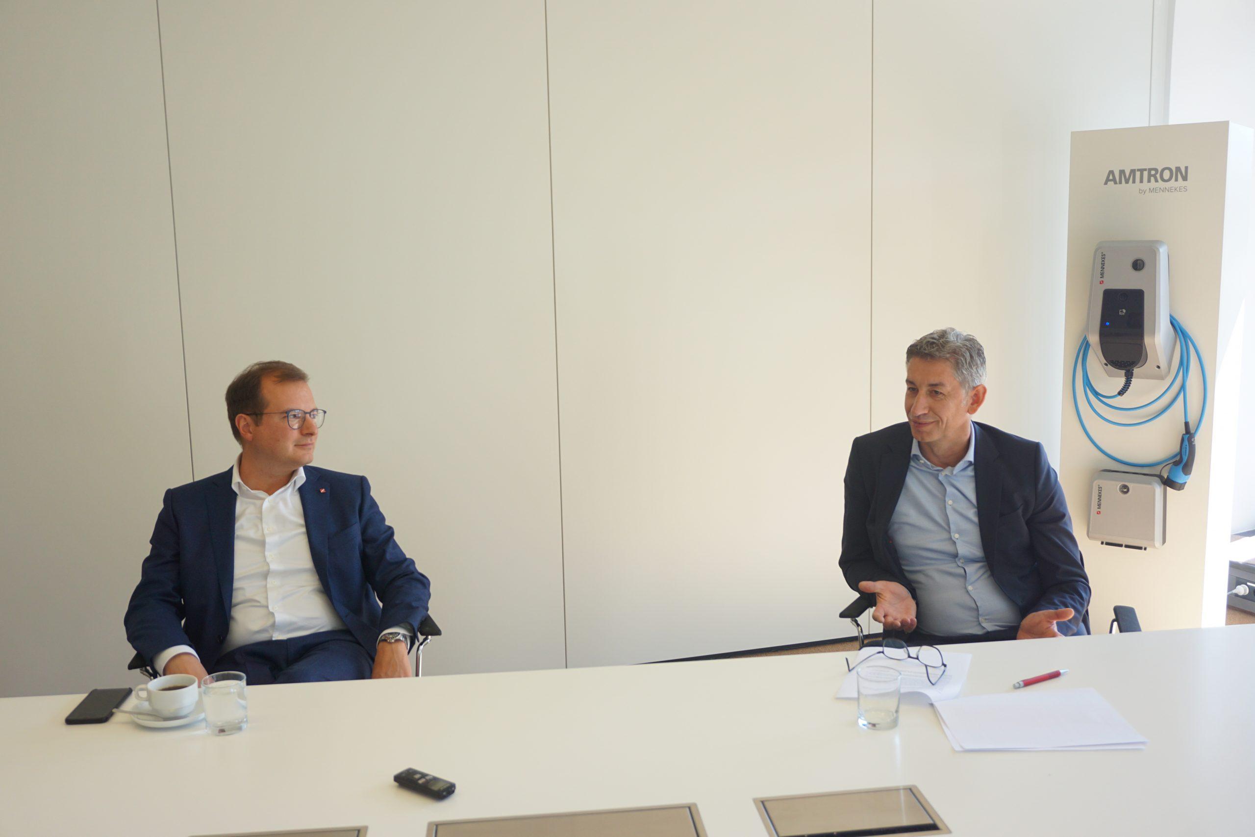 Christopher Mennekes und Volker Lazzaro