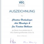 Das sind die besten Azubis im VEG-Elektrogroßhandel 2021